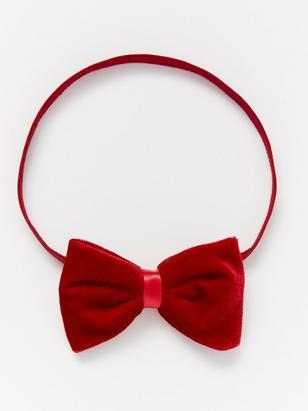 Headband with Velvet Bow Red