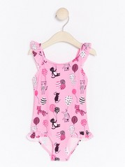 Pink Swimsuit with Cats and Balloons Pink