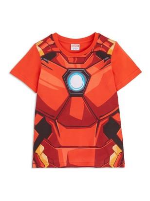 T-paita, jossa Iron Man -painatus Punainen