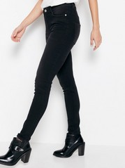 VERA Black skinny jeans with high waist  Black