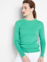 Cable Knit Sweater  Green