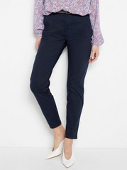 FREJA Loose Chinos with Belt  Blue