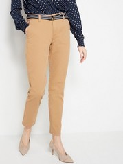 FREJA Loose Chinos with Belt  Brown