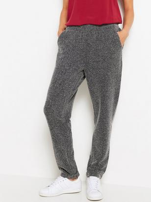 AVA - Grey Tapered Trousers Black