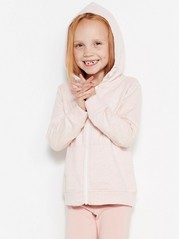 Hoodie with Zipper Pink