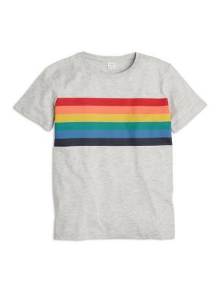 T-shirt with Multicolour Print Grey
