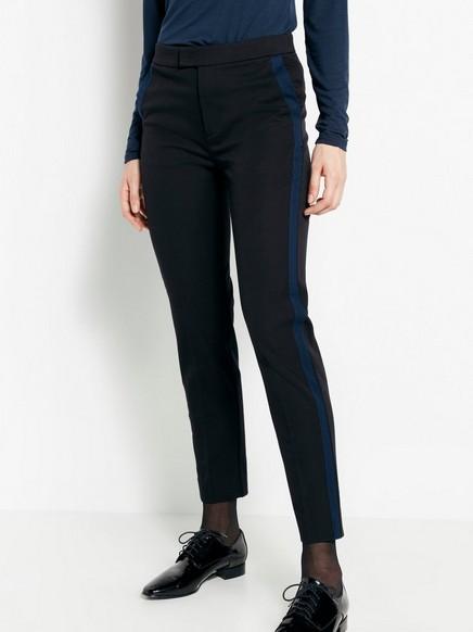 Rovné kalhoty IRIS Černá