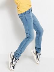 Slim jeans med tight ben Blå