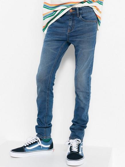 Smal, superelastisk jeans Blå