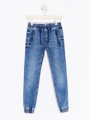 Narrow Jeans with Dropped Crotch Blue