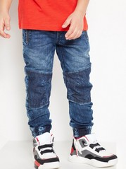 Regular Jeans with Reinforced Knees Blue