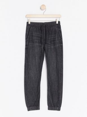 Loose Jersey Jeans Grå