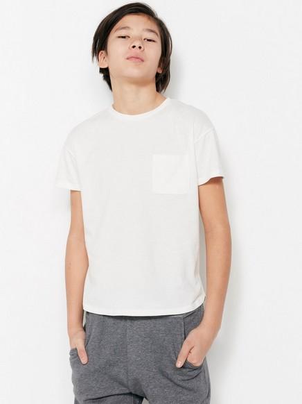 Pitkä t-paita Valkoinen