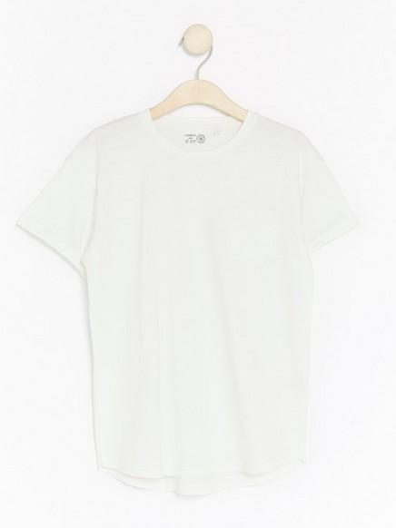 Ekstra lang T-skjorte Hvit