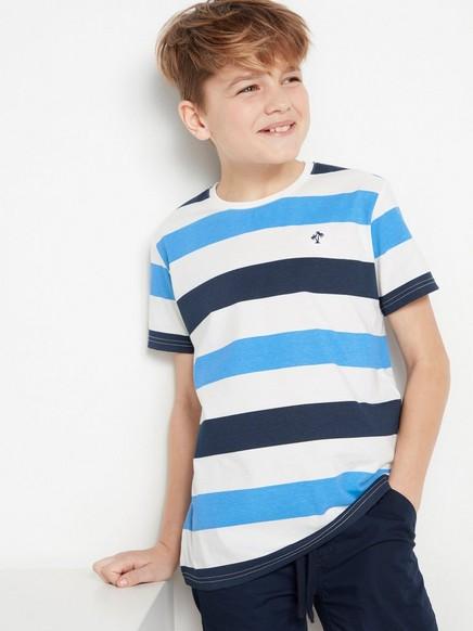 Stripete T-skjorte Blå
