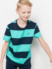 Striped T-shirt Turquoise