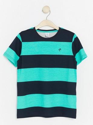 Raidallinen t-paita Turkoosi