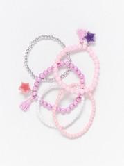 5-Pack Pearl Bracelets  Pink