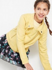 Biker Jacket in Fake Suéde Yellow