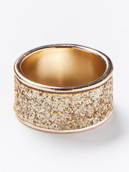 Prsten střpytkami Žlutá