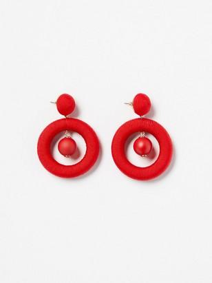 Kruhové náušnice Červená