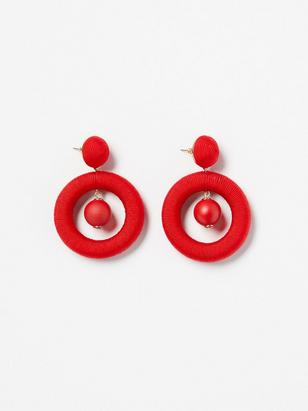 Round Earrings Red