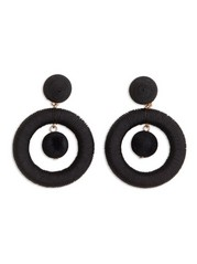 Round Earrings Black