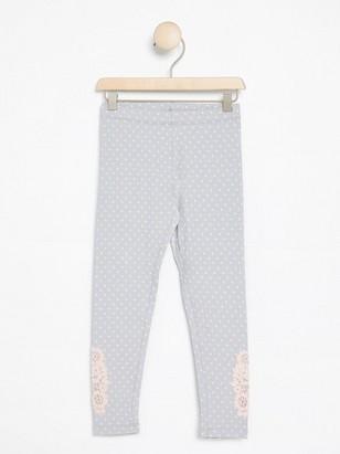 Leggings with Crochet Detail Grey