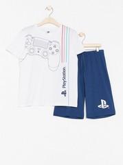 Pyjamas med Playstation-tryck Blå