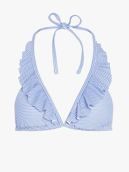 Trekantet bikini-BH Blå