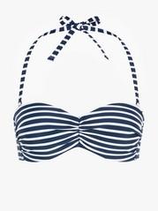 Bandeau-bikiniyläosa Sininen