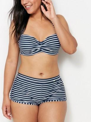 Bikinové kalhotky snohavičkou Modrá