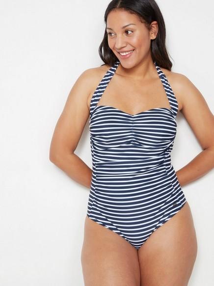 Proužkované plavky Modrá