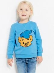 Sweatshirt med Bamse-tryck Blå