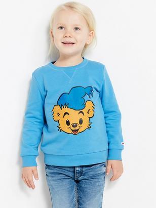 Sweatshirt with Bamse Print Blue