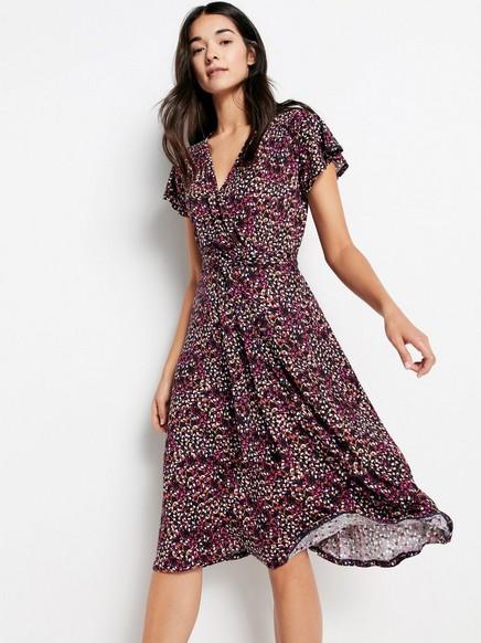 Patterned Dress in Tencel® Blend Lilac