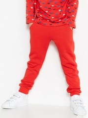 Monochrome Sweatpants Red
