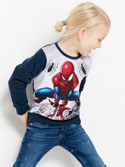 Sweater with Spider-Man Print Blue