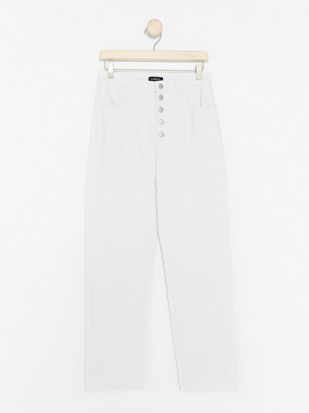 Cropped High Jeans  White