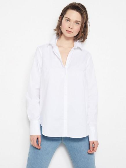Hvit bomullsskjorte Hvit