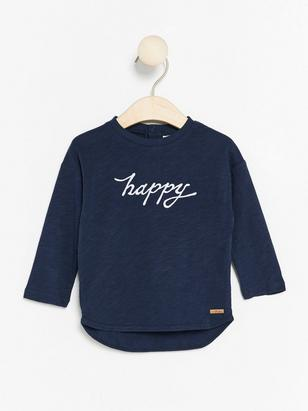 Top with Embroidery Blue