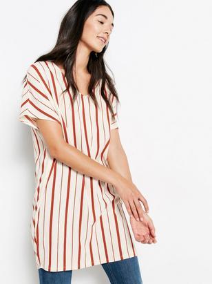 Striped Tunic Orange