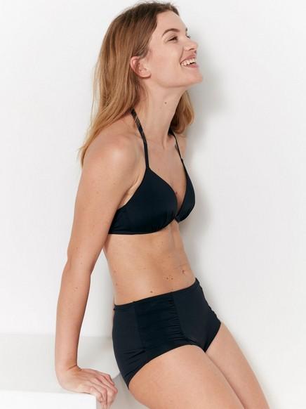 Trekantet bikini-BH med push-up Svart