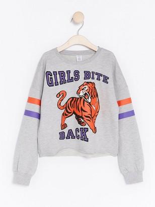 Sweatshirt with Print Grey