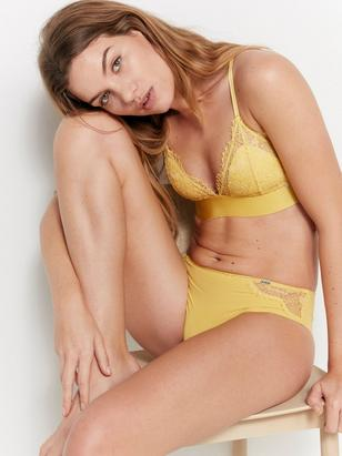Bralette with Lace Yellow