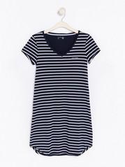 Striped T-shirt Night Dress Blue