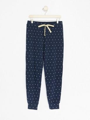 Puntíkované pyžamové kalhoty Modrá