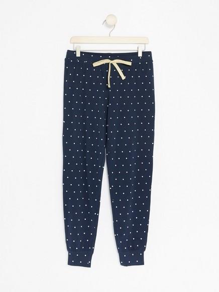 Pilkulliset pyjamahousut Sininen