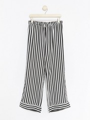 Stripe Pyjama Trousers Black