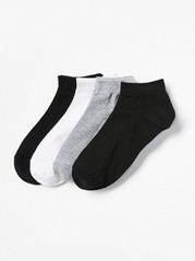 4-pack Footies Black